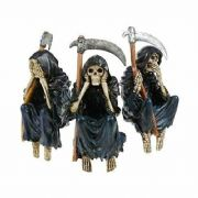 3 Wise Reapers PC or Shelf Sitters Figurines Ornaments Gothic Gift
